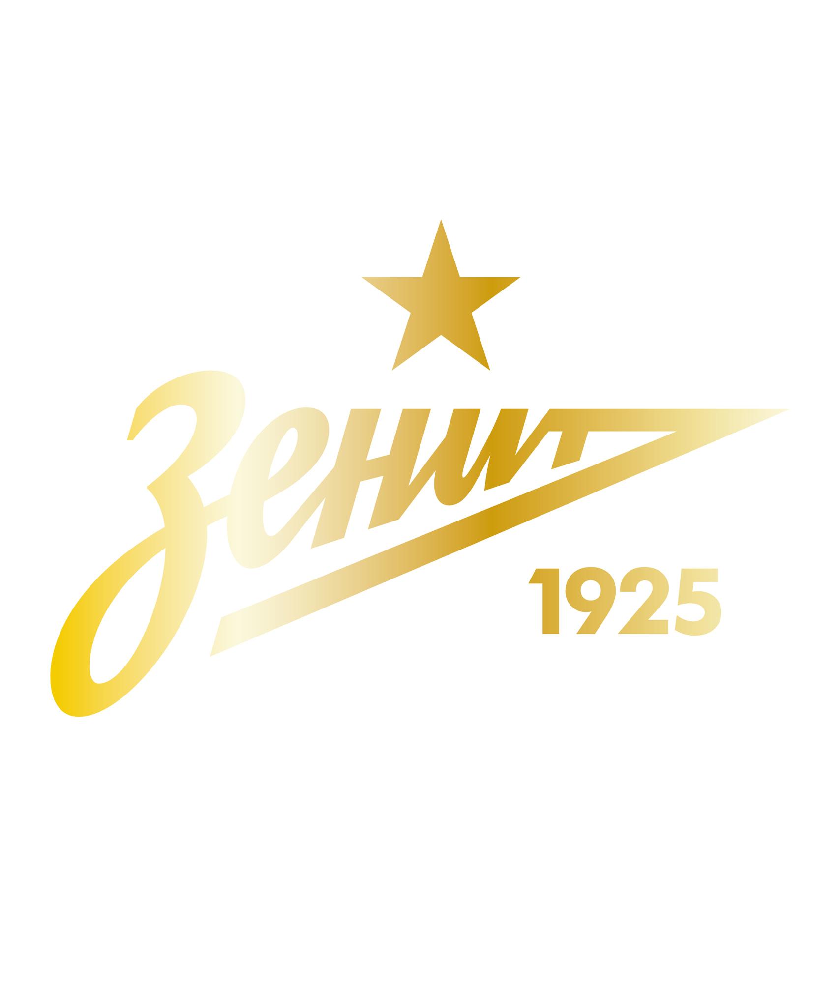 Золотая наклейка «Зенит» 7х7 см Зенит