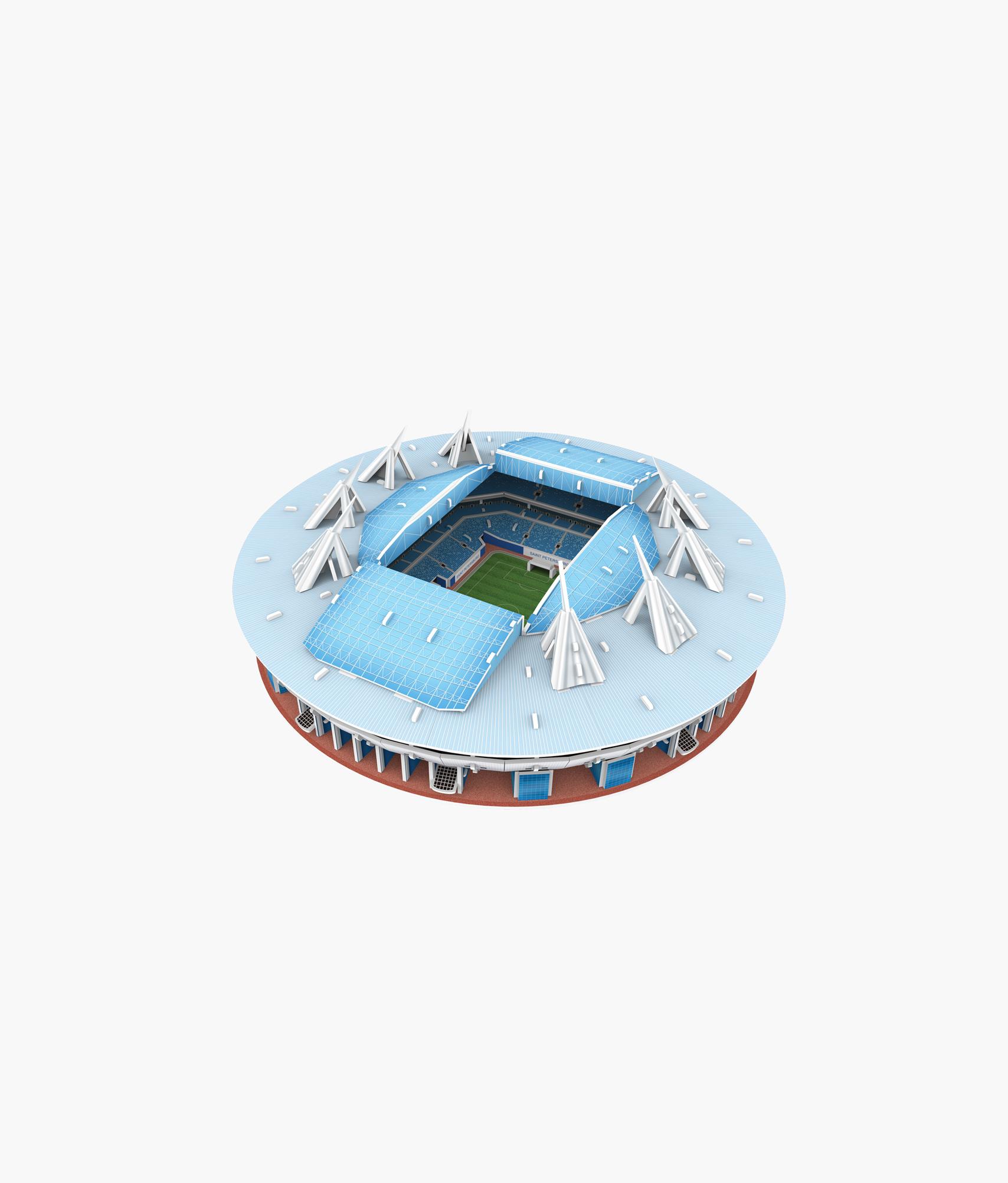 Пазл 3D Стадион «Санкт-Петербург» Зенит сувенир акм плакетка санкт петербург ночь 4 шт