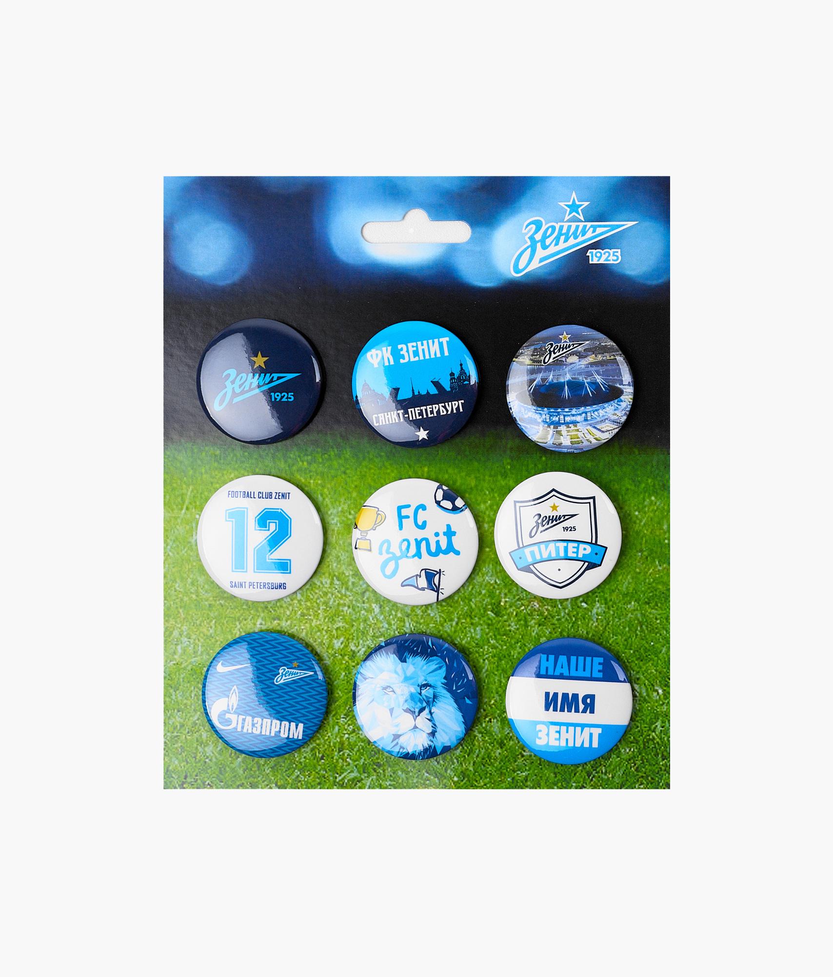 Набор закатных значков «Зенит» Зенит gernro акриловые значки для одежды буквы и кошки значки значков значков на рюкзаке