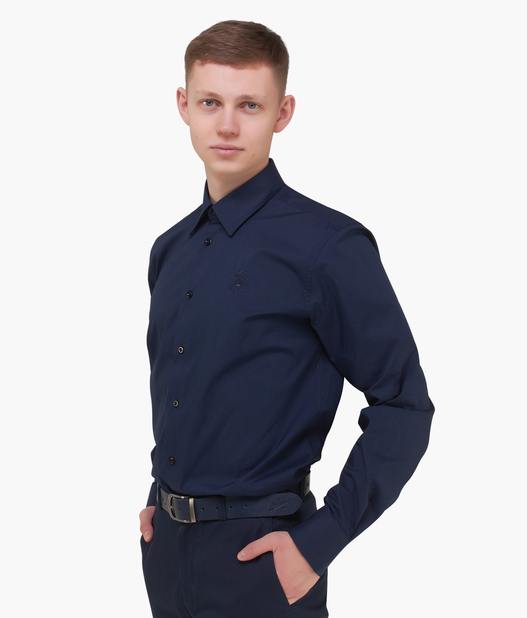 Рубашка мужская Зенит Цвет-Темно-Синий рубашка armani exchange 8nzc61 z8apz 0501