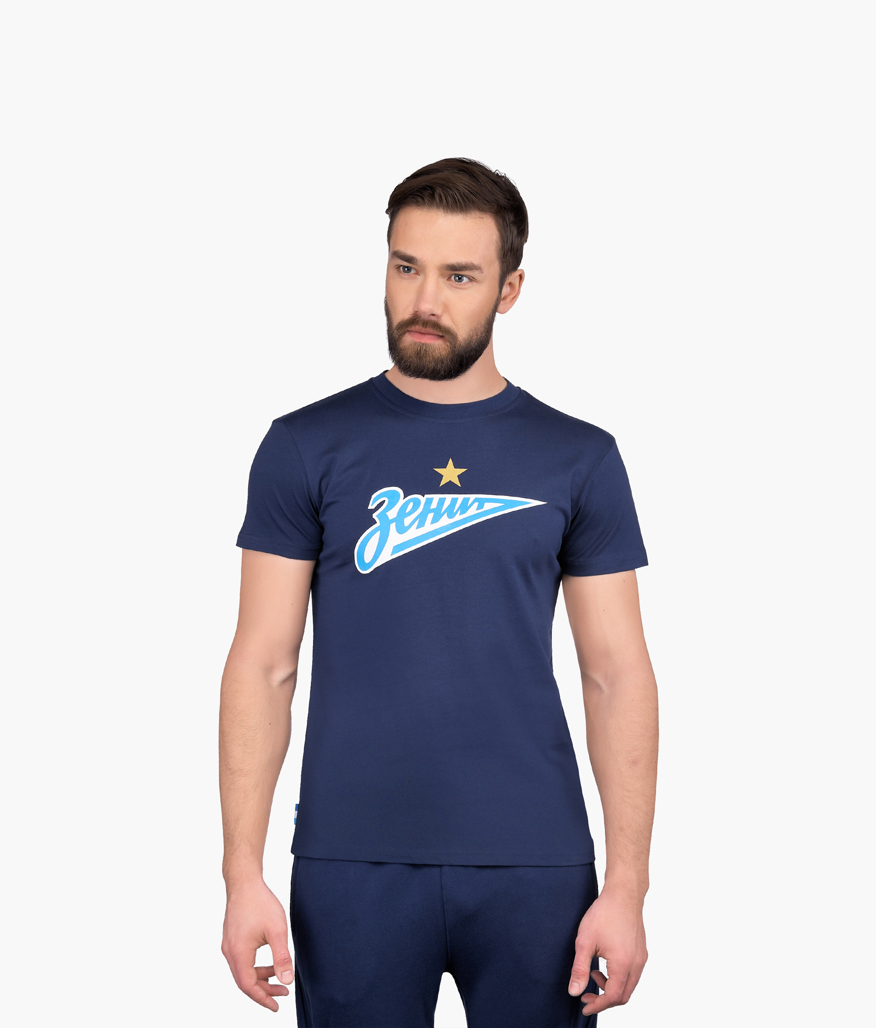 Футболка мужская «Зенит» Зенит Цвет-Синий футболка зенит со своей фамилией