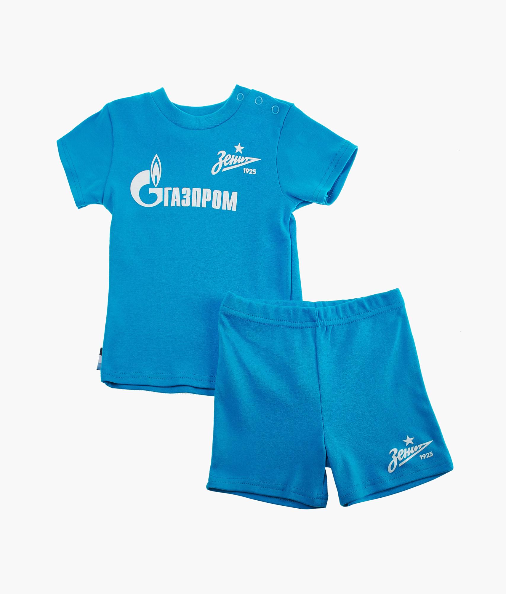 Детский комплект (футболка + шорты), лазурный Зенит Цвет-Лазурный шорты детские зенит цвет синий