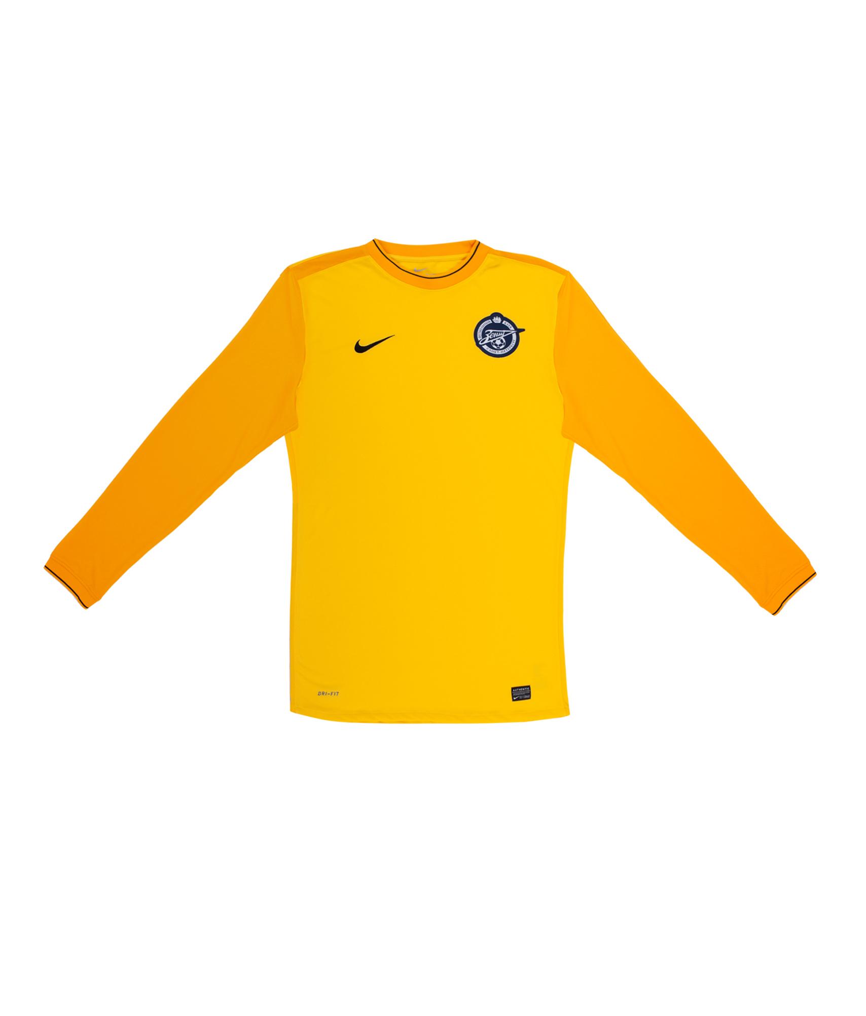 Футболка вратарская с длинным рукавом, Цвет-Желтый, Размер-XL