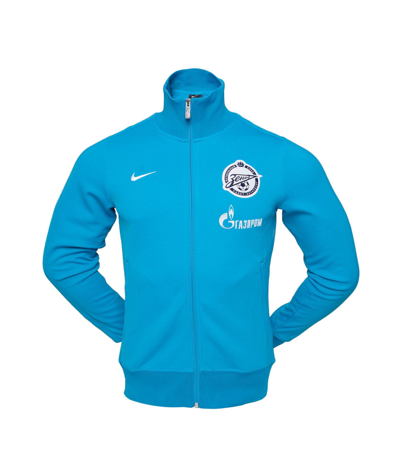 Лазурная олимпийка Nike, Цвет-Бело-Голубой, Размер-XL
