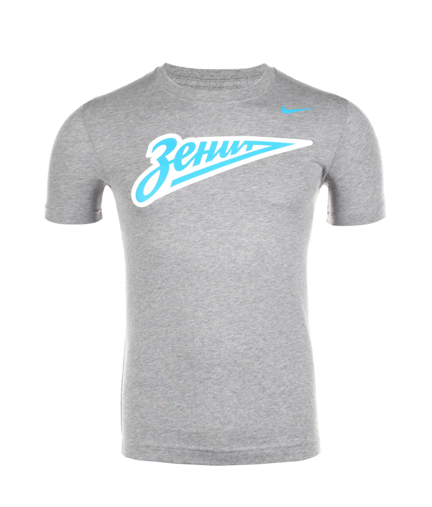 Футболка Nike ZENIT CORE BASIC CREST TEE, Цвет-Серый, Размер-L
