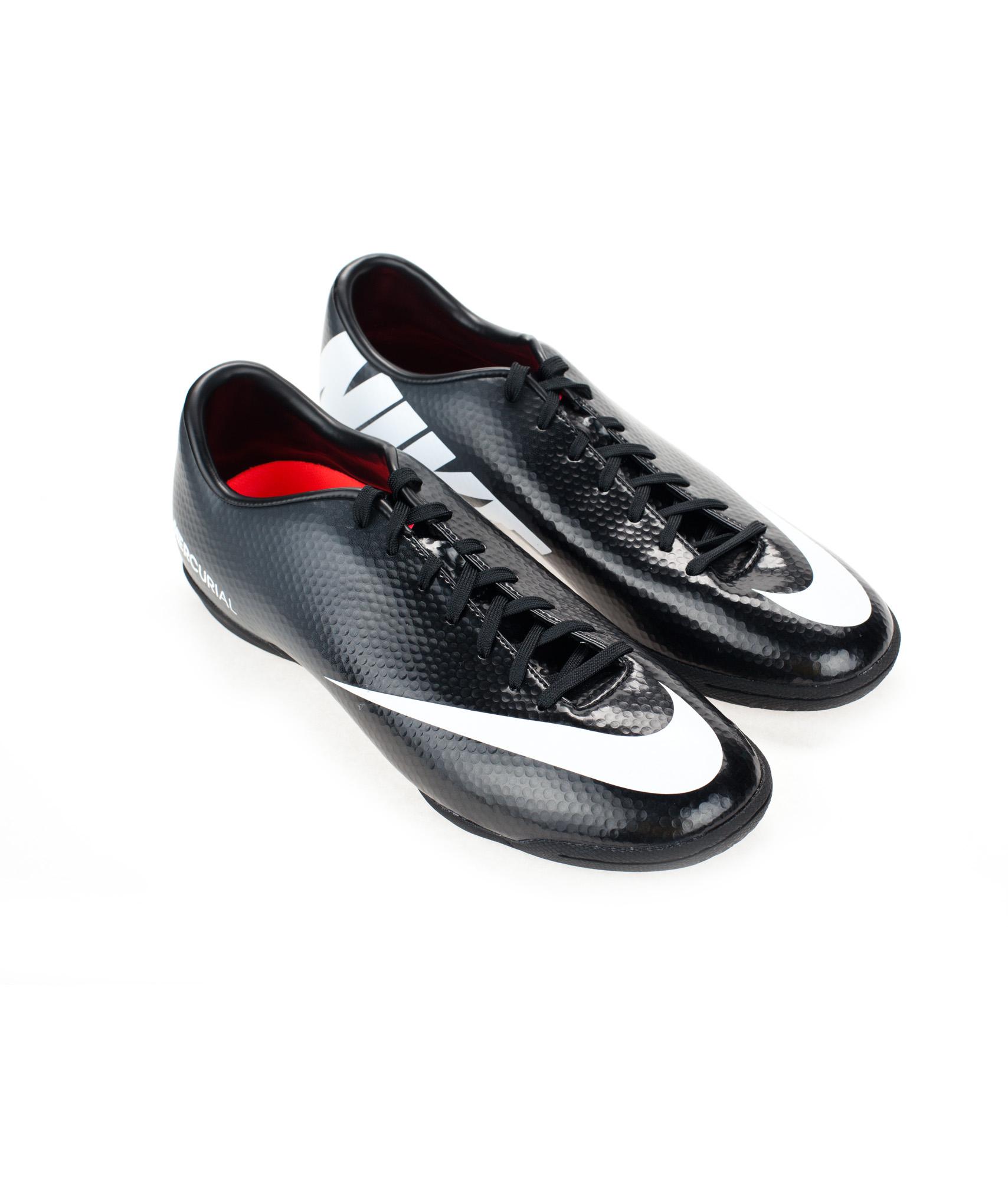 Бутсы Nike MERCURIAL VICTORY IV IC, Цвет-Черный, Размер-10.5
