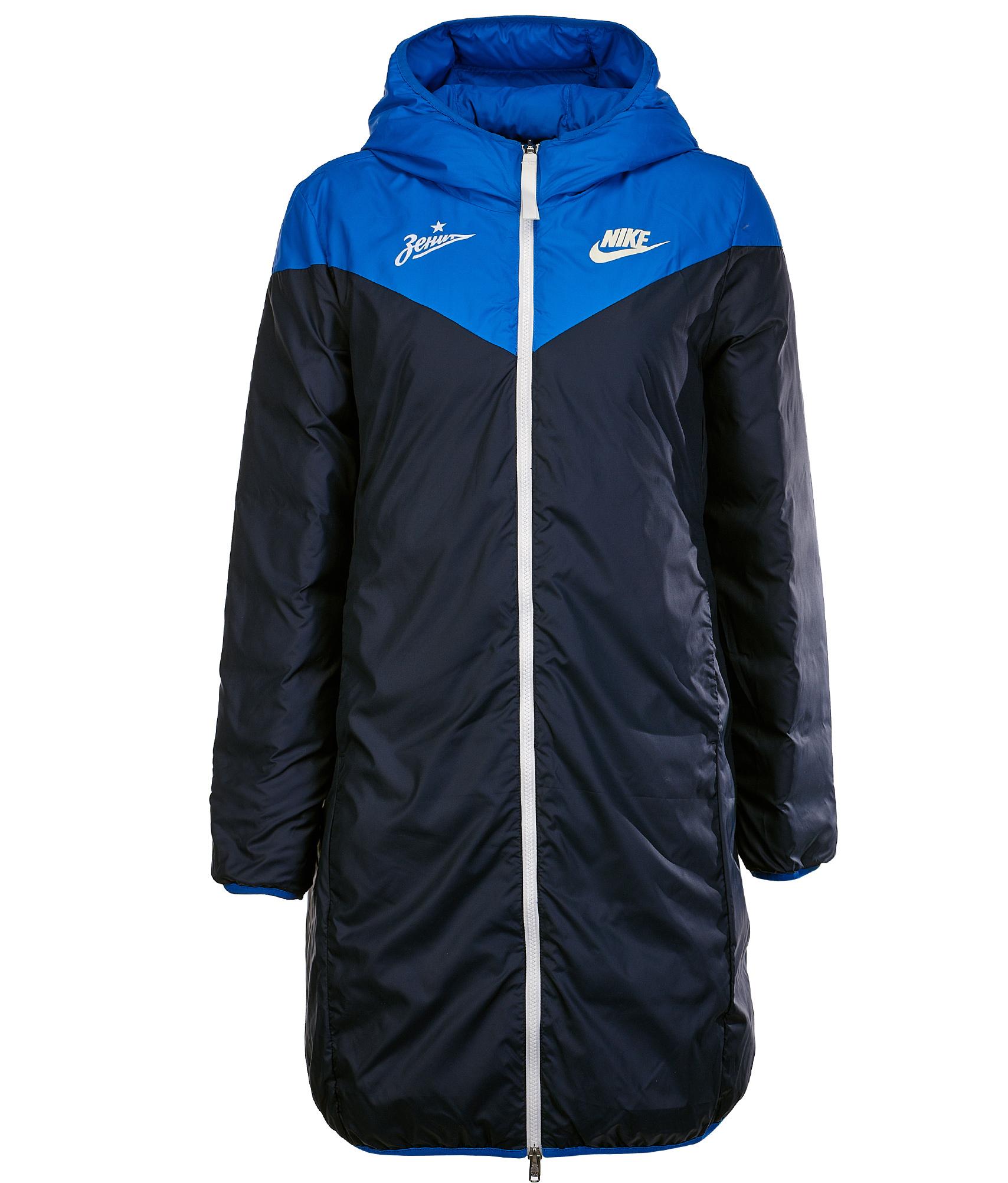 Парка двухсторонняя женская Nike Nike Цвет-Голубой свитшот мужской nike nike цвет голубой