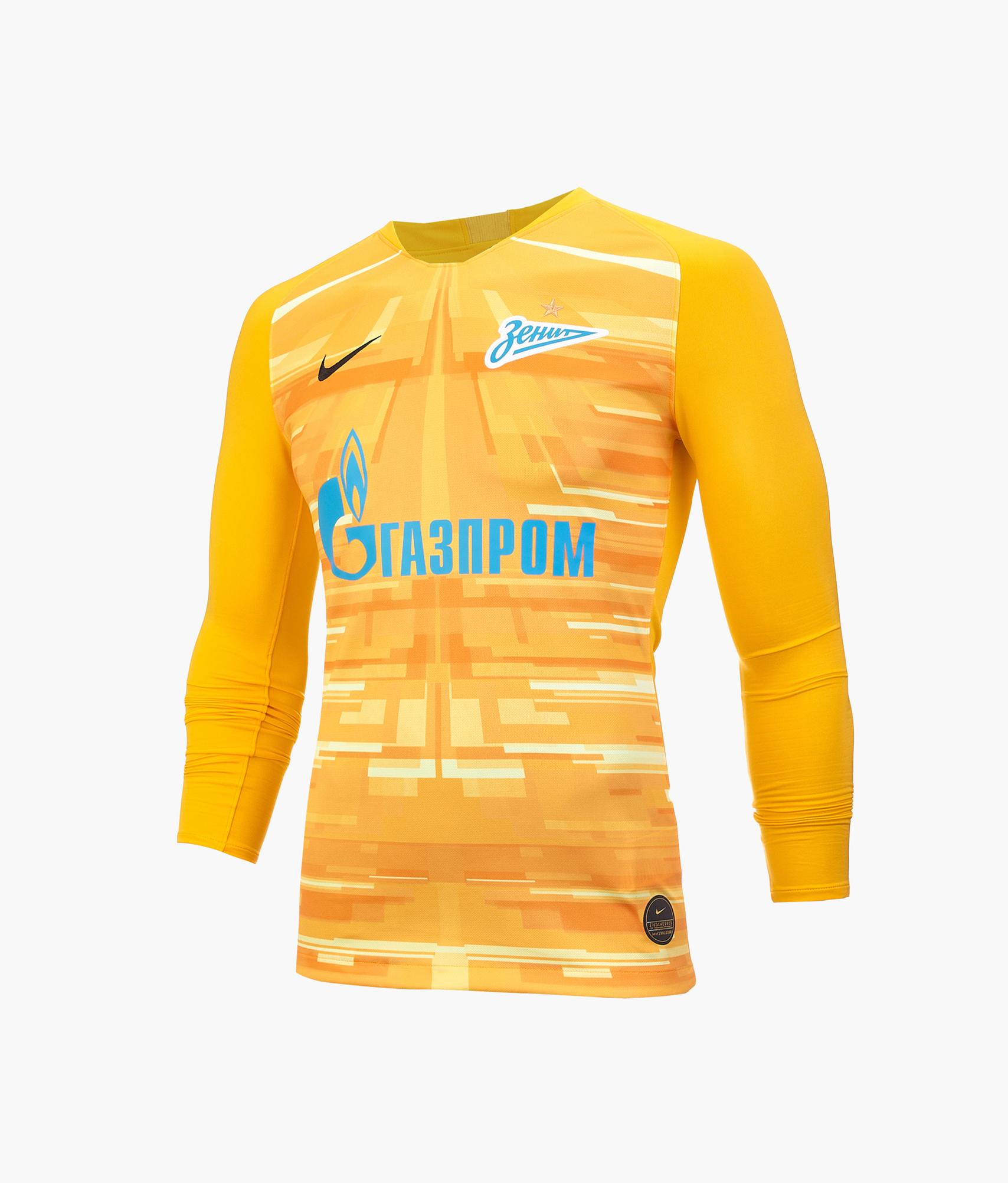 Вратарская футболка с длинным рукавом сезона 2019/20 Nike Цвет-Золотой