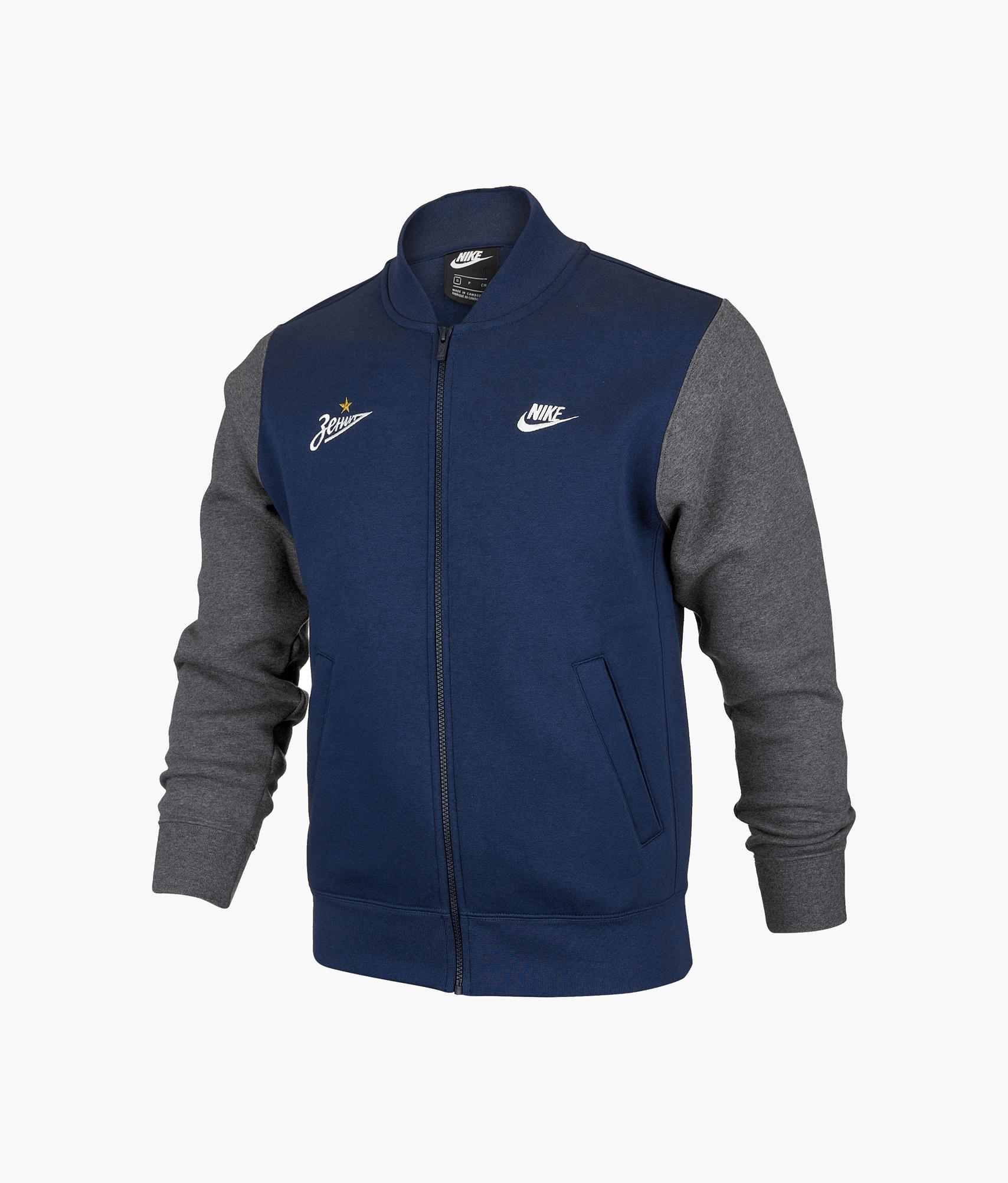 Куртка-бомбер Nike Nike Цвет-Синий куртка утепленная подростковая nike цвет синий