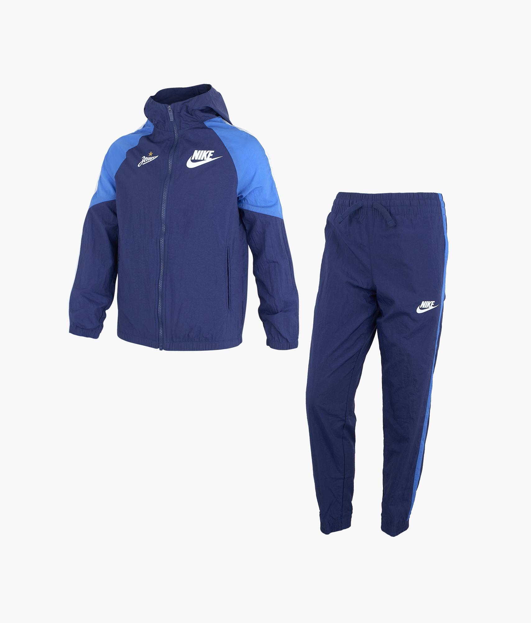 Костюм спортивный подростковый Nike Nike Цвет-Синий топ спортивный nike nike ni464ewhtts4