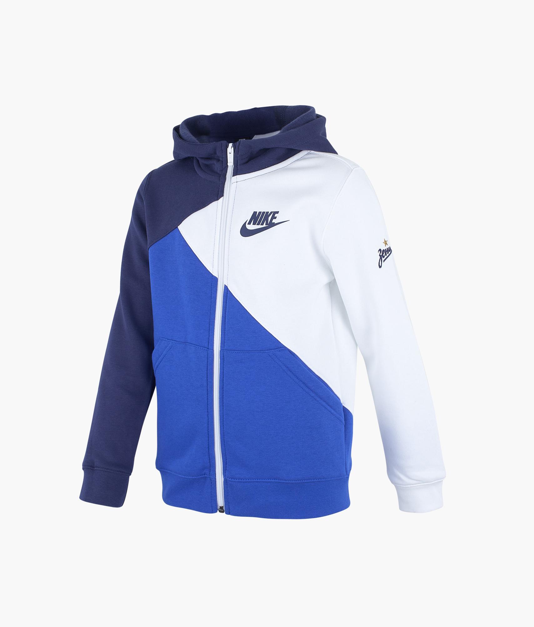 Толстовка подростковая Nike Nike Цвет-Бело-Синий куртка утепленная подростковая nike цвет синий