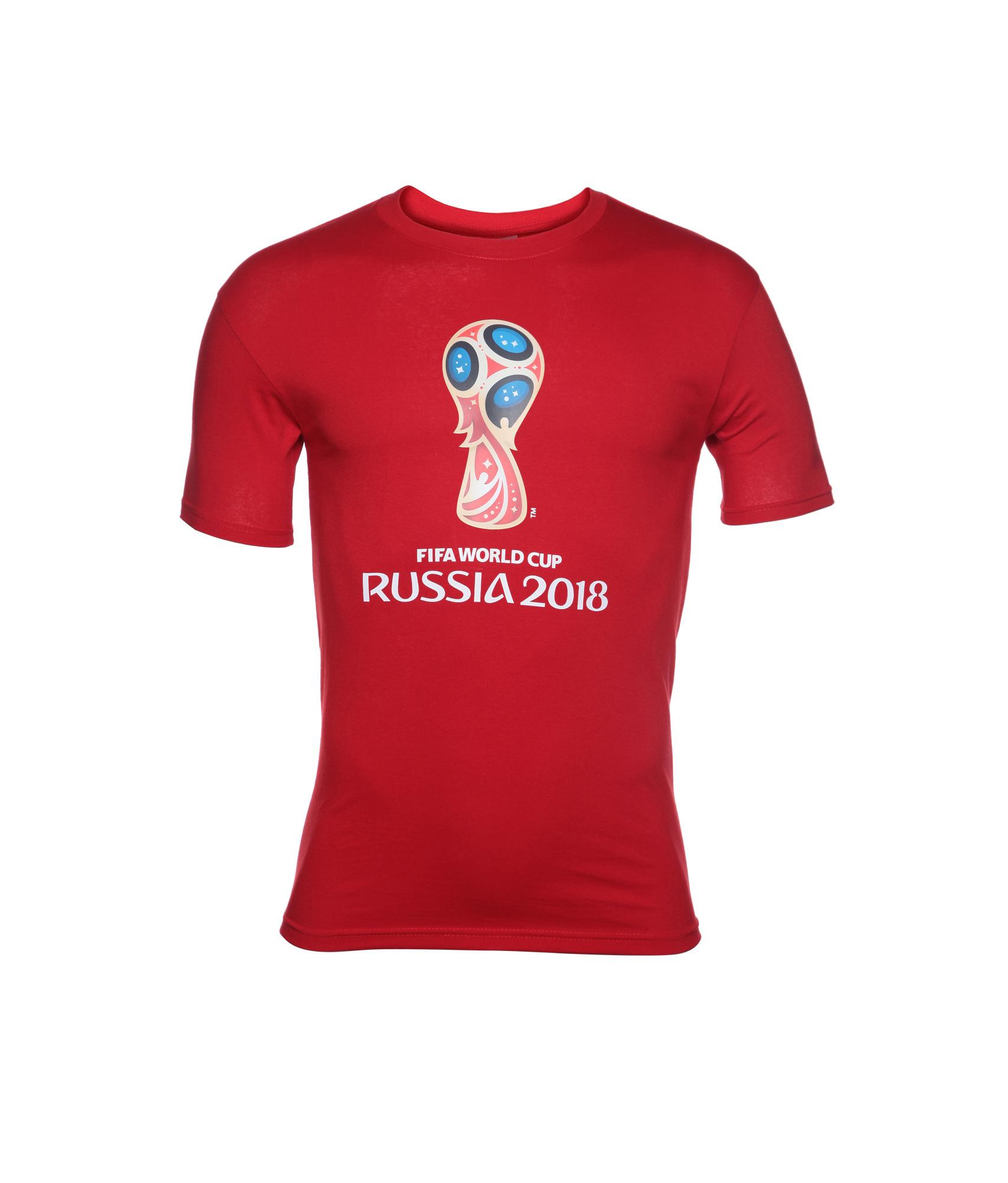 Футболка мужская «Эмблема Чемпионата мира 2018» Зенит Цвет-Красный значок закатной эмблема чемпионата мира 2018 зенит