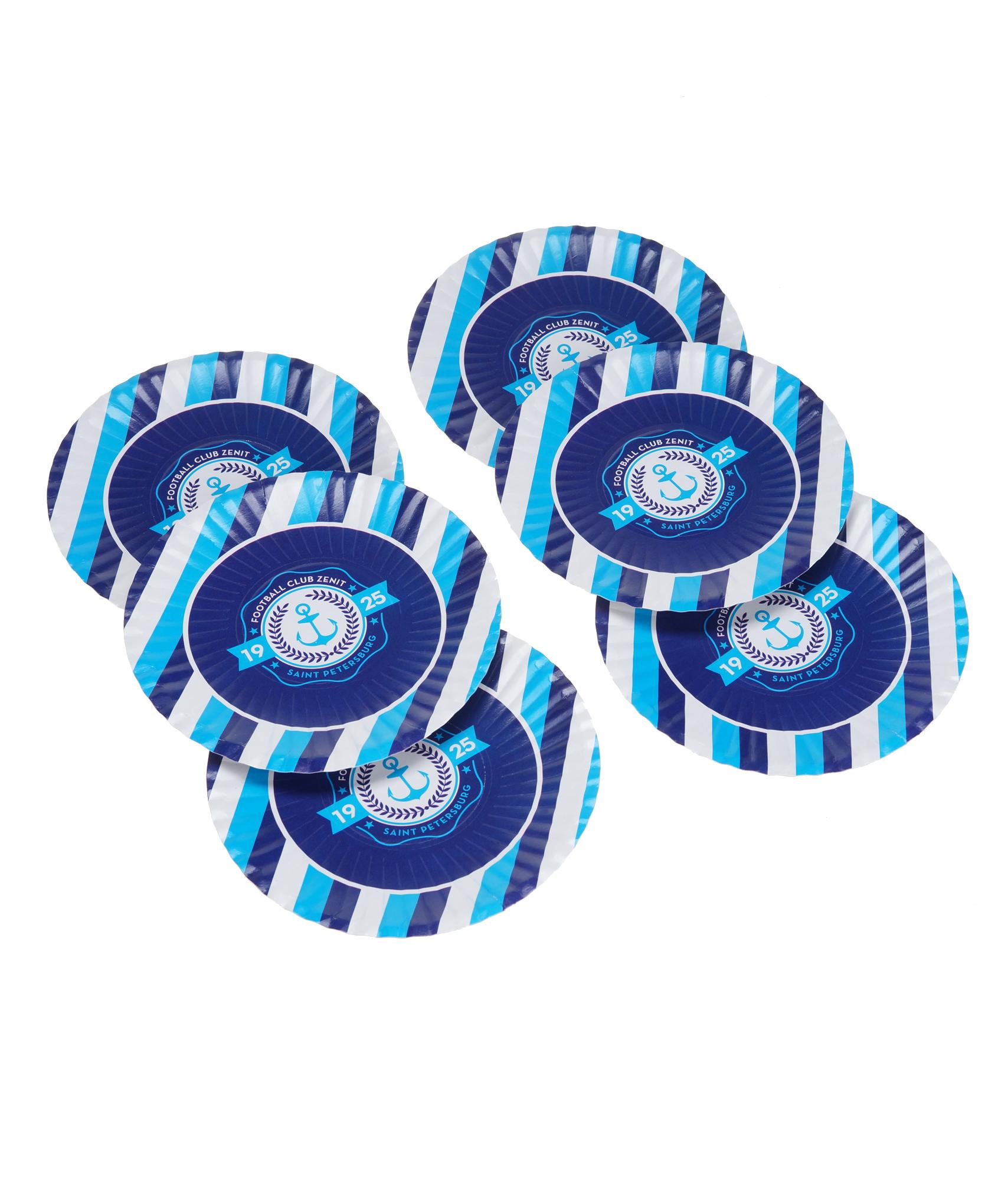 Набор бумажных тарелок 170 мм Зенит строительные машины набор из 6 бумажных заготовок